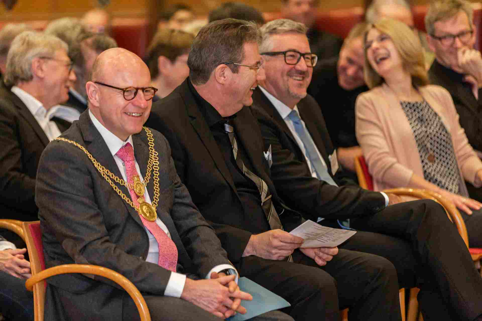 Foto: Festakt 75 Jahre Diakonie Münster mit OB Markus Lewe, Vorstand Ulrich Schülbe und Christian Heine-Göttelmann, Vorstand Diakonie RWL