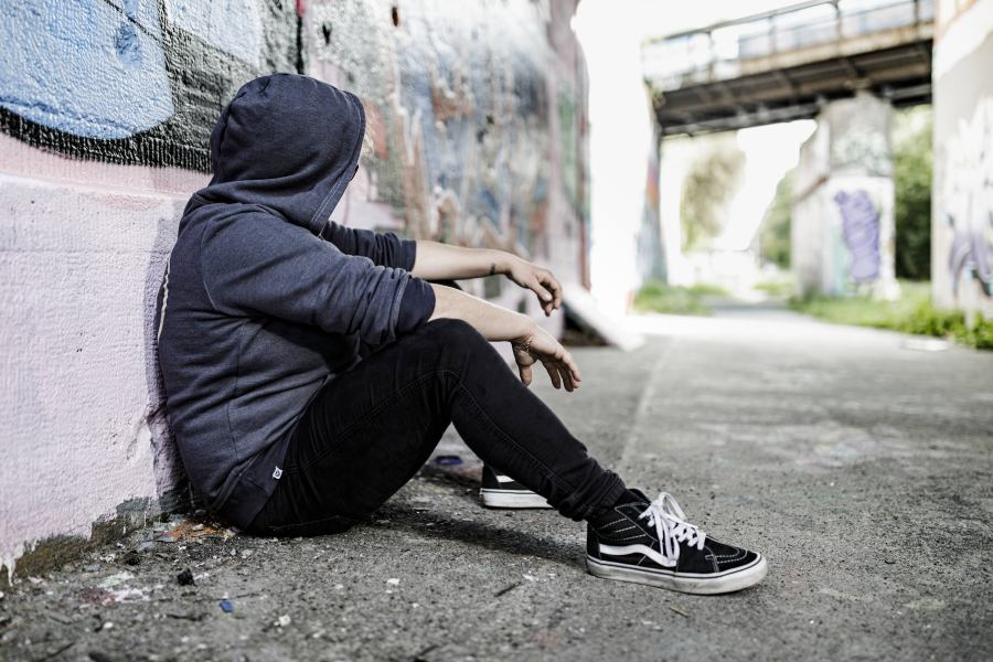 Foto: obdachloser Mensch