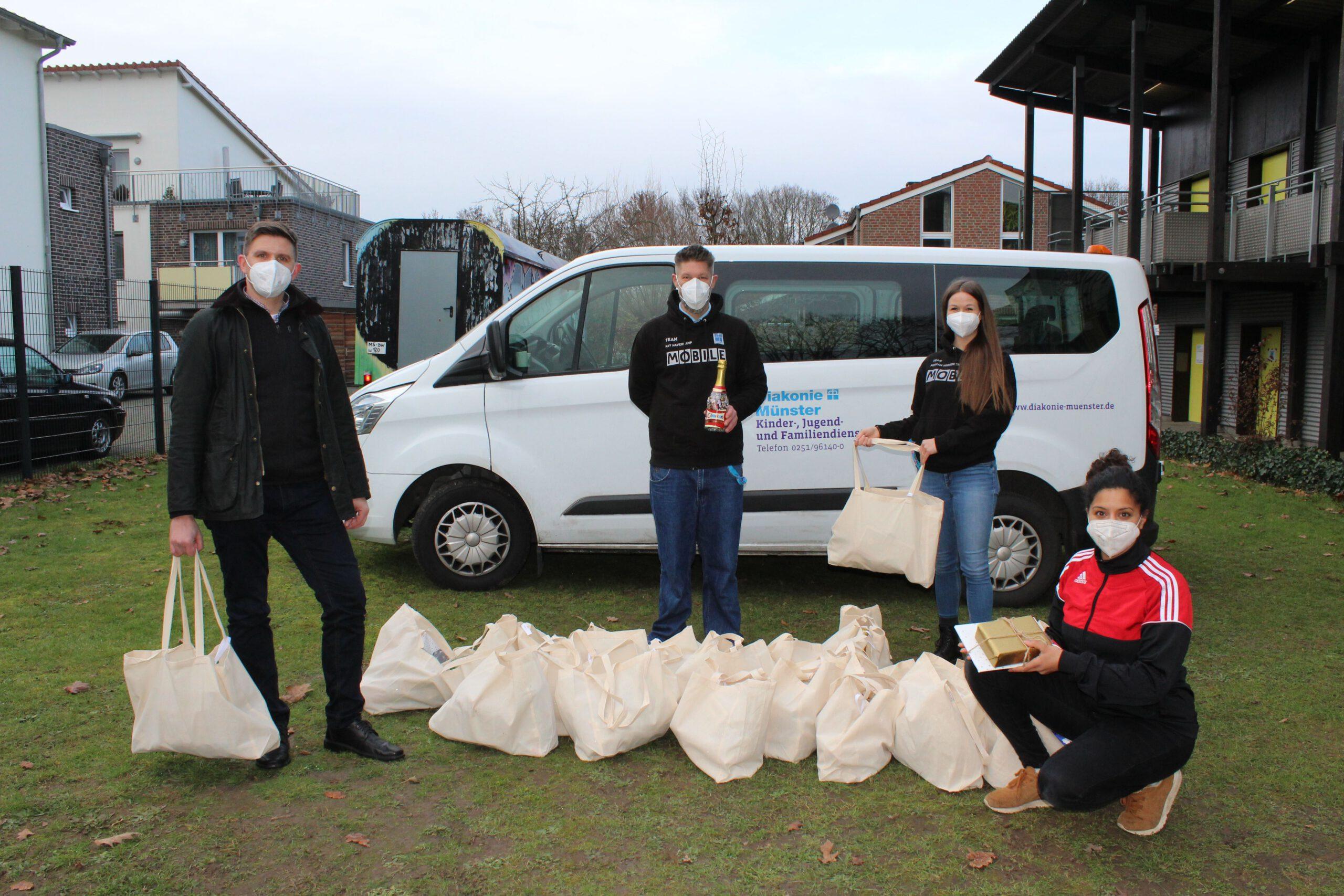 Foto: Das Team des Jugendzentrums MOBILE der KJFD