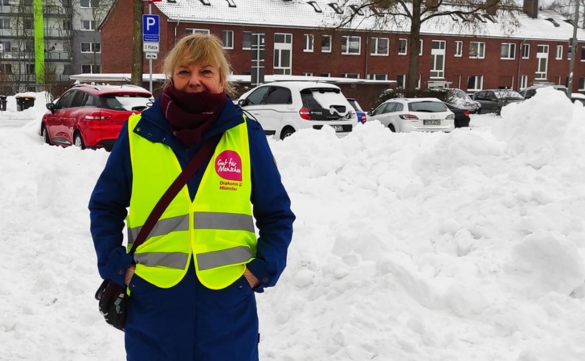Foto: Patientenversorgung im Schnee